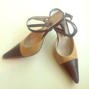 CHANEL Vintage Classic Two-Toned  Strappy Pumps